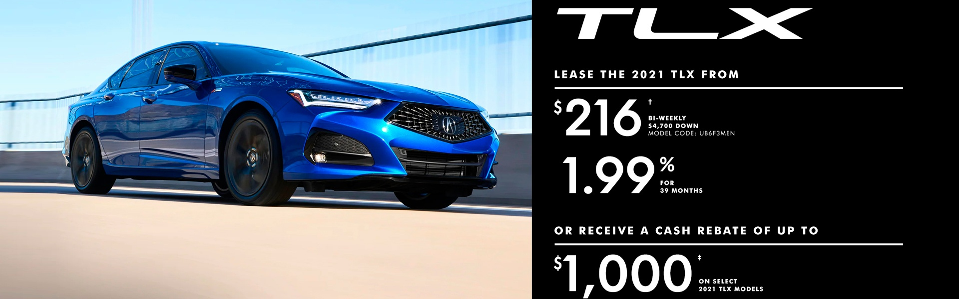 Lease the 2021 TLX
